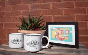 Two Mugs and a Framed Print